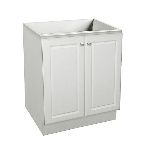 24 Inch W Classic Vanity Base - Matte White finish Without Top