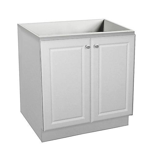 Classic 30-inch W 2-Door Freestanding Vanity in White