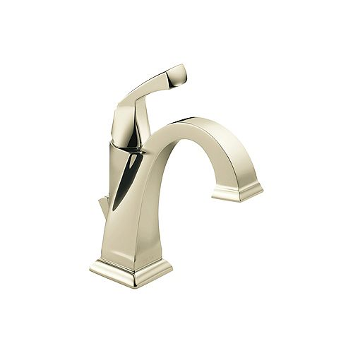 Dryden Single Hole 1-Handle Mid Arc Bathroom Faucet in Polished Finish with Lever Handle