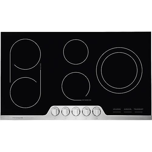 Table de cuisson électrique de 36 pouces en acier inoxydable avec 5 éléments
