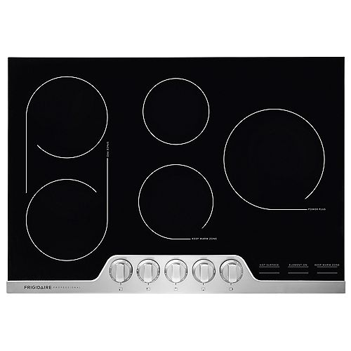 Table de cuisson électrique radiante de 30 pouces en acier inoxydable avec 5 éléments