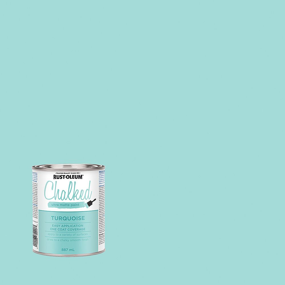 Rust-Oleum Chalked Ultra Matte Paint in Turqouise, 887 mL