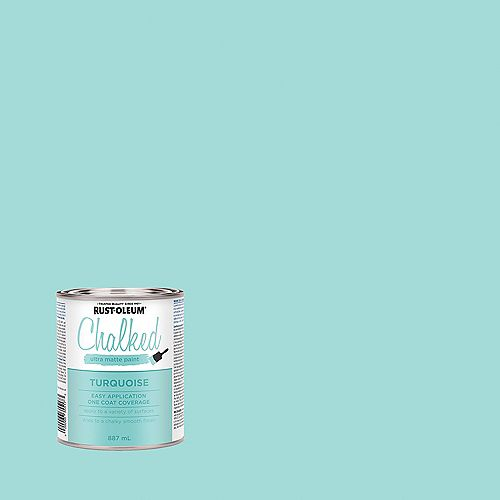 Chalked Ultra Matte Paint In Turqouise, 887 Ml