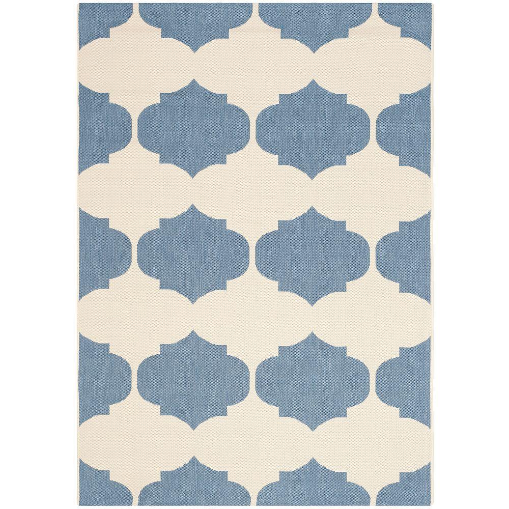 Safavieh Courtyard Blue 5 ft. 3-inch x 7 ft. 7-inch Indoor/Outdoor Rectangular Area Rug - CY6162-233-5
