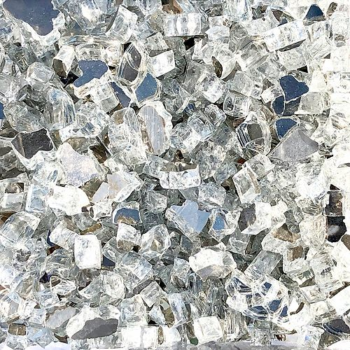 20lbs Reflective Fireglass in Luminous Ice Crystals