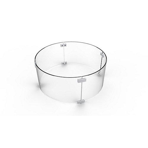 Coupe-vent en verre rond de 28 pouces pour les tables d'incendie