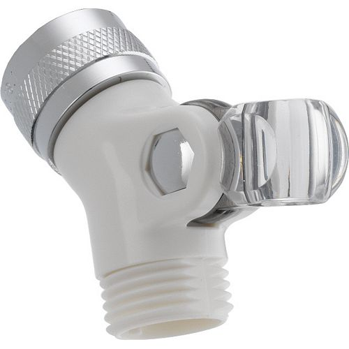 Pin Mount Swivel Connector for Hand Shower, White