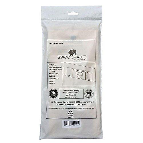 Sacs de remplacement pour SVS1500 (paquet de 5)