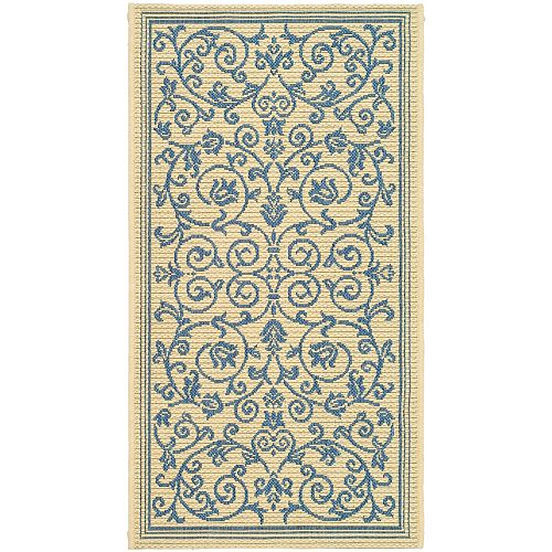 Safavieh Courtyard Blue 2 ft. 7-inch x 5 ft. Indoor/Outdoor Rectangular Area Rug - CY2098-3101-3