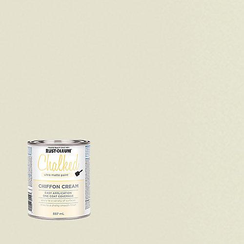 Peinture ultra-mate à la craie dans la crème au mousseline, 887 mL
