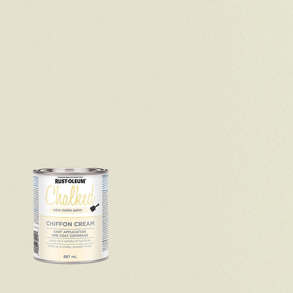Rust-Oleum Chalked Ultra Matte Paint In Chiffon Cream, 887 Ml