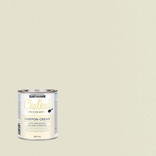 Rust-Oleum Chalked Ultra Matte Paint In Chiffon Cream, 887 Ml