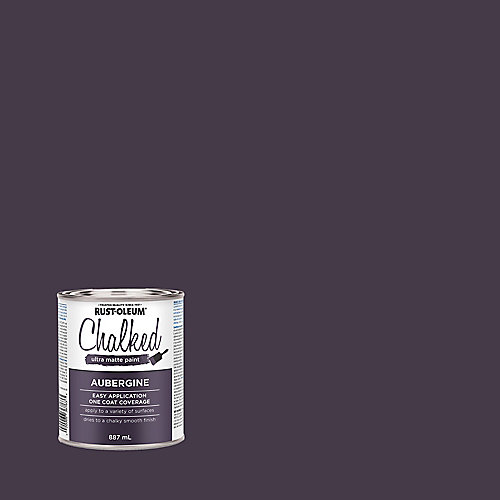 Chalked Ultra Matte Paint In Aubergine, 887 Ml
