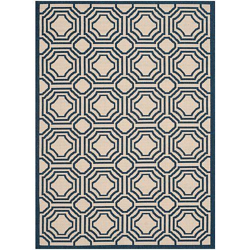 Courtyard Blue 2 ft. 7-inch x 5 ft. Indoor/Outdoor Rectangular Area Rug - CY6112-258-3