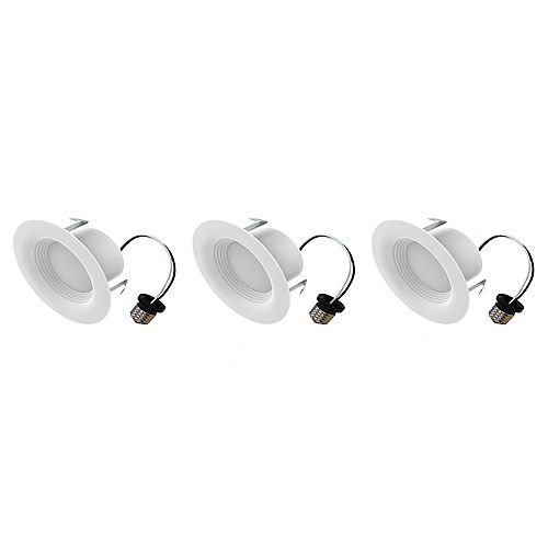 Ecosmart 4-inch 65W Equivalent Bright White Integrated LED Recessed Trim Light (3-Pack) - ENERGY STAR
