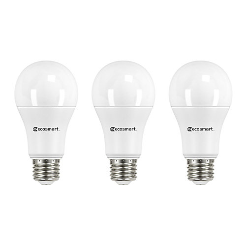 100W Equivalent Soft White (2700K) A19 Dimmable LED Light Bulb (3-Pack) - ENERGY STAR