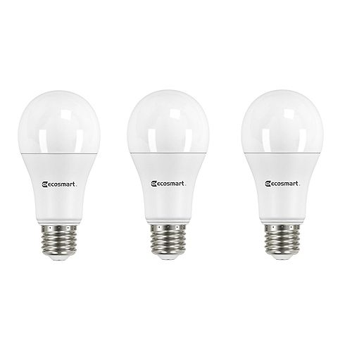100W Equivalent Daylight (5000K) A19 Dimmable LED Light Bulb (3-Pack) - ENERGY STAR
