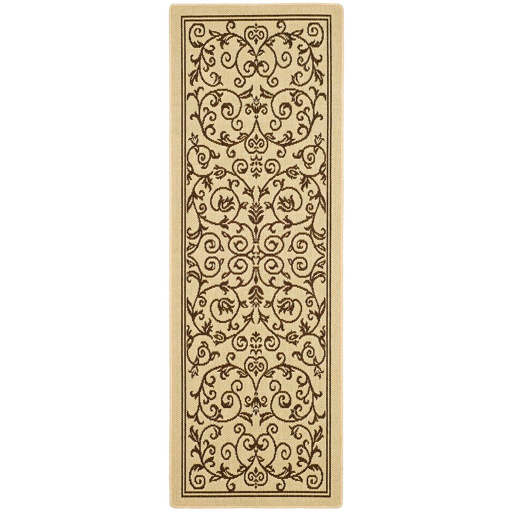 Safavieh Courtyard Marc Natural / Brown 2 ft. 3 inch x 6 ft. 7 inch Indoor/Outdoor Runner