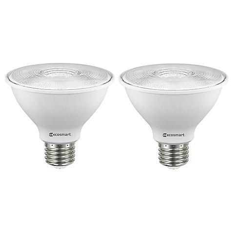 75W Equivalent Bright White (3000K) PAR30 Dimmable Shortneck LED Light Bulb (2-Pack) - ENERGY STAR