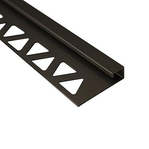 Bordure carrée pour carreaux, 5/16 po (10 mm), 8 pi, titane satiné