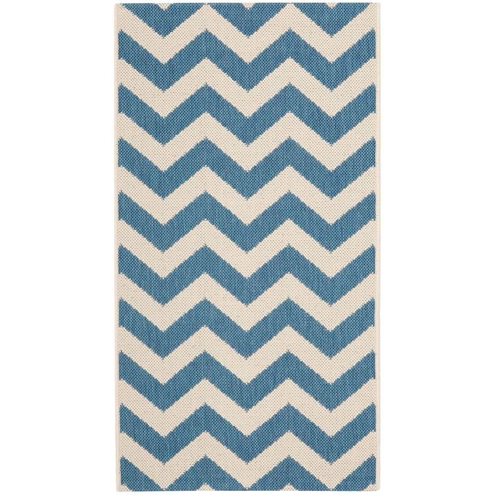 Safavieh Courtyard Jax Blue / Beige 2 ft. x 3 ft. 7 inch Indoor/Outdoor Area Rug