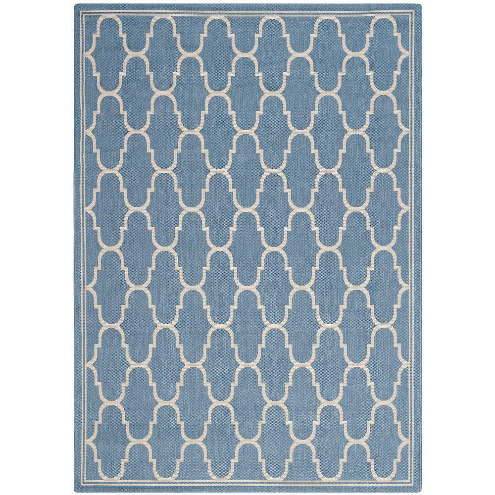 Safavieh Courtyard Blue 5 ft. 3-inch x 7 ft. 7-inch Indoor/Outdoor Rectangular Area Rug - CY6016-243-5