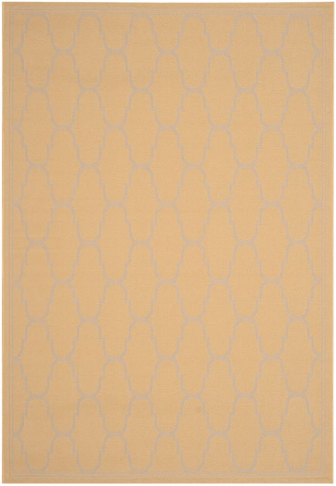 Courtyard Joey Yellow / Beige 4 ft. x 5 ft. 7 inch Indoor/Outdoor Area Rug