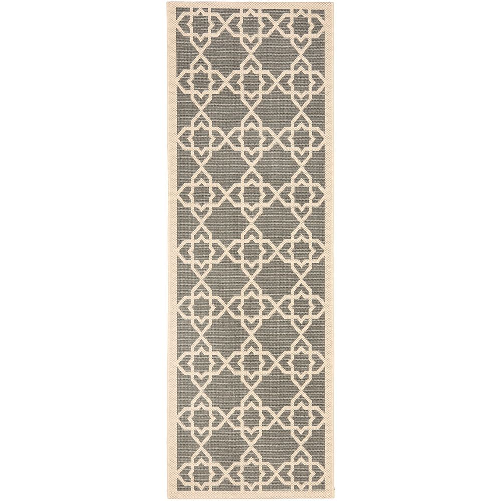 Safavieh Courtyard Jared Grey / Beige 2 ft. 3 inch x 12 ft. Indoor/Outdoor Runner