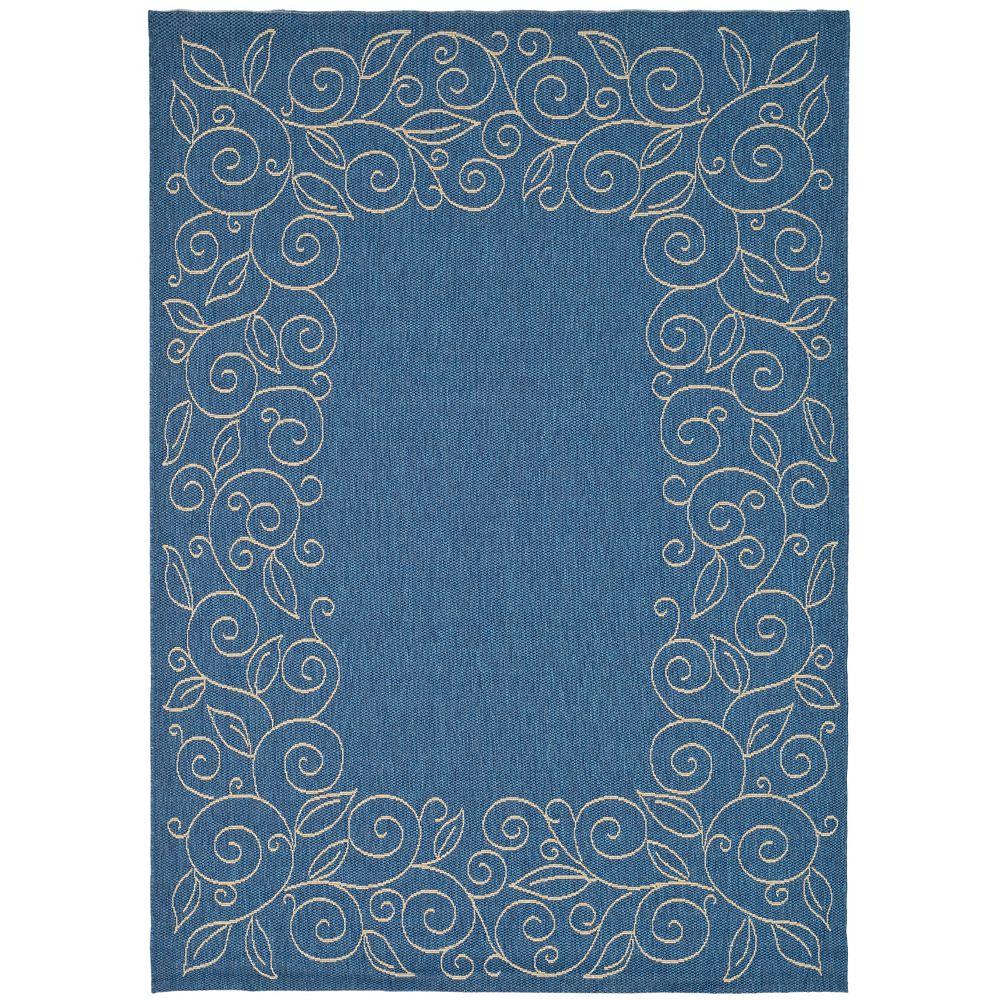 Safavieh Courtyard Blue 5 ft. 3-inch x 7 ft. 7-inch Indoor/Outdoor Rectangular Area Rug - CY5139C-5