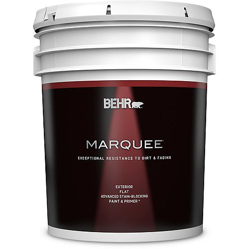 Behr Marquee Exterior Paint & Primer in One, Flat - Deep Base, 18.9 L