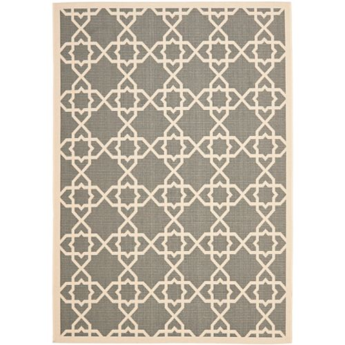 Safavieh Courtyard Jared Grey / Beige 4 ft. x 5 ft. 7 inch Indoor/Outdoor Area Rug
