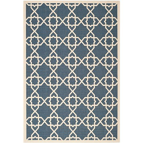 Safavieh Courtyard Blue 5 ft. 3-inch x 7 ft. 7-inch Indoor/Outdoor Rectangular Area Rug - CY6032-268-5