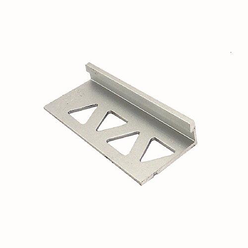 Bordure pour carreaux, 1/4 po (6 mm), 8 pi, titane satiné