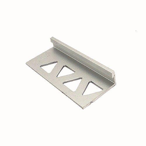 Bordure en aluminium pour carreaux, 1/4 po (6 mm), 8 pi, satin anodisé transparent