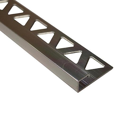 Bordure pour carreaux carrée, 3/8 po (10 mm), 8 pi, transparent brillant