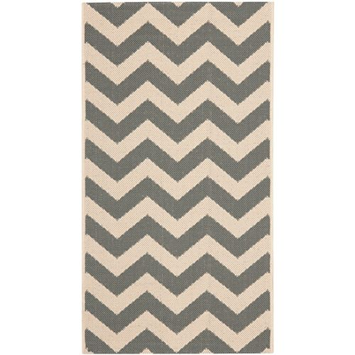 Safavieh Courtyard Jax Grey / Beige 2 ft. 7 inch x 5 ft. Indoor/Outdoor Area Rug