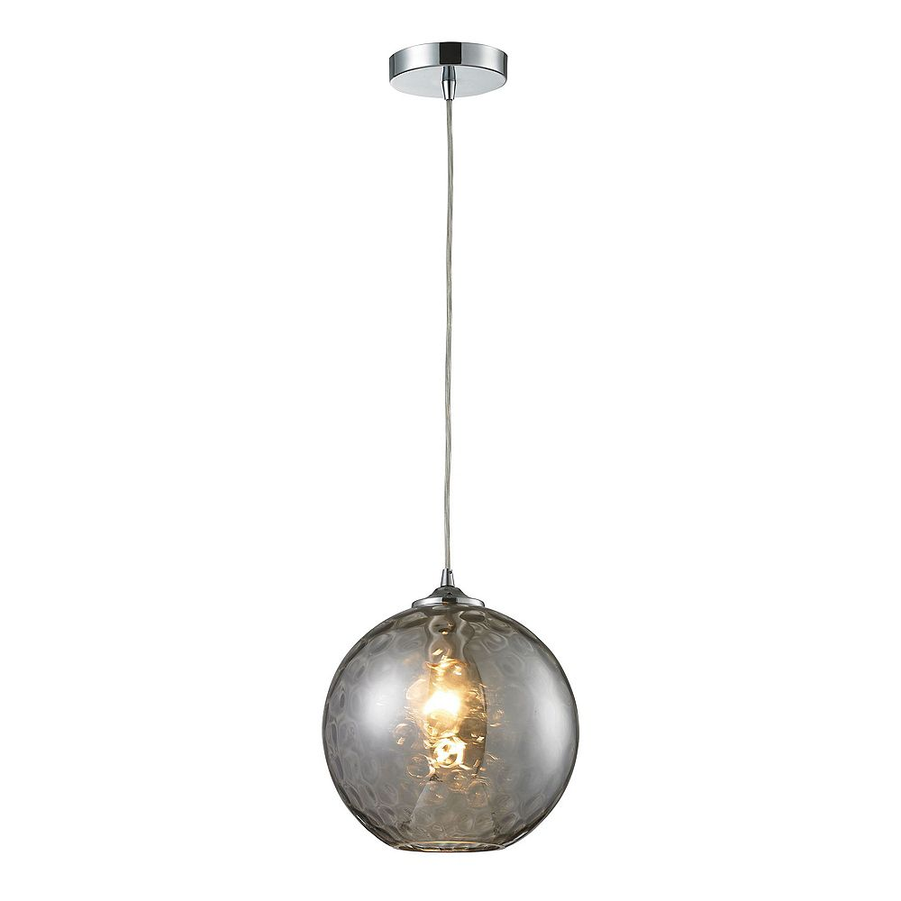 Titan Lighting Watersphere 1-Light Polished Chrome Ceiling Mount Pendant