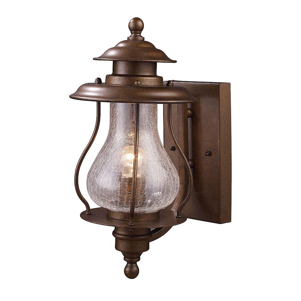 Titan Lighting Wikshire 1-Light Wall Mount Outdoor Coffee Bronze Sconce