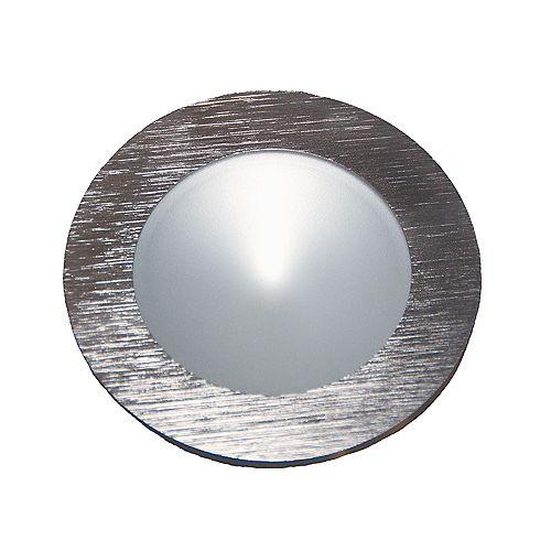 Rondelle déclairage DEL Polaris au fini aluminium brossé