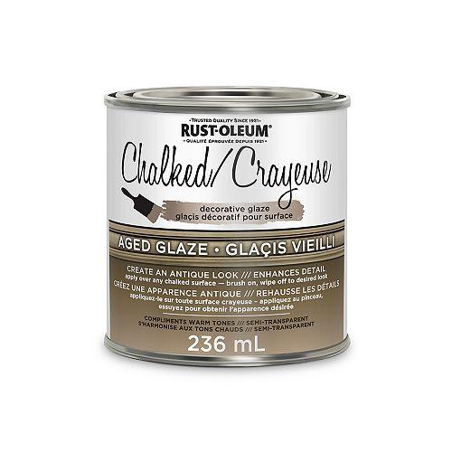 Chalked Decorative Glaze In Semi Transparent Aged Glaze, 236 Ml