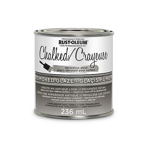 Chalked Decorative Glaze In Semi Transparent Smoked Glaze, 236 Ml