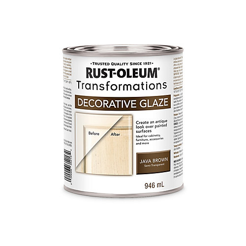 Transformations Antique Decorative Glaze In Semi-Transparent Java Brown, 946 mL