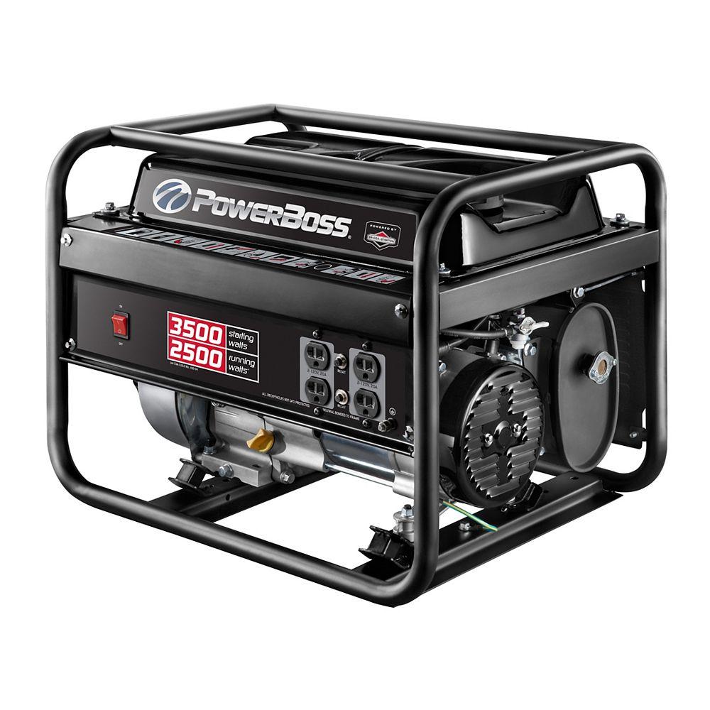 Powerboss 2,500W Gasoline Powered Pull Start Portable Generator