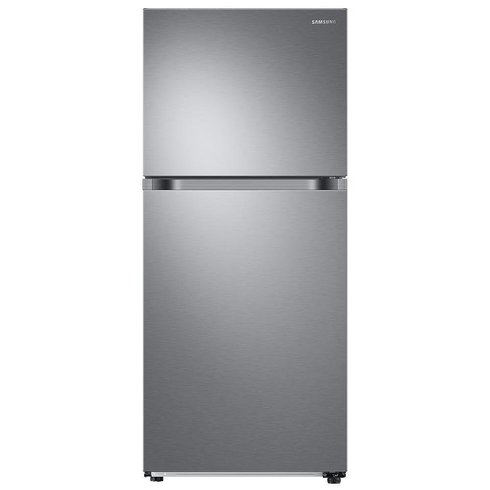 Samsung Réfrigérateur congélateur supérieur de 29 pouces W 17,6 pieds cubes en acier inoxydable, profondeur standard - ENERGY STAR®