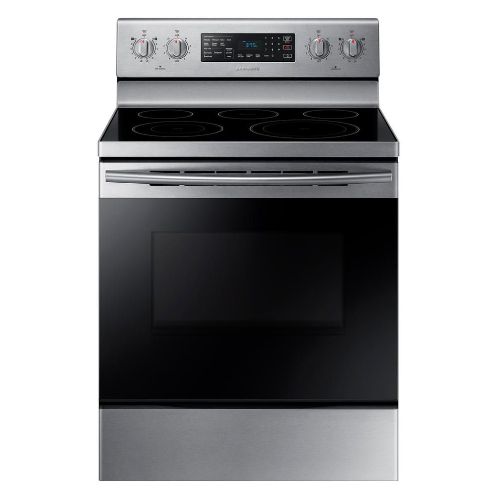 5.9 cu.ft Single Oven Electric Range with Self-Cleaning Convection Oven in Stainless Steel