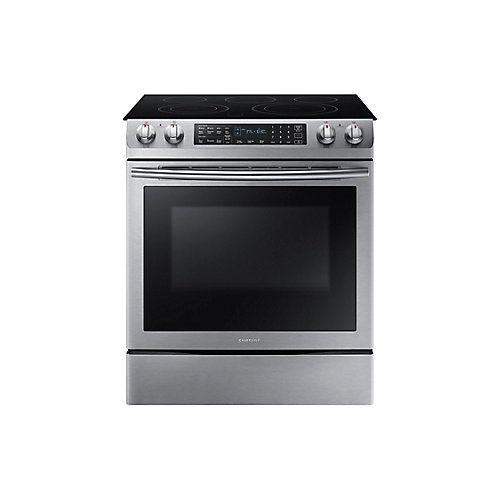30-inch 5.8 cu.ft. Slide-In Electric Range with Convection Oven in Stainless Steel