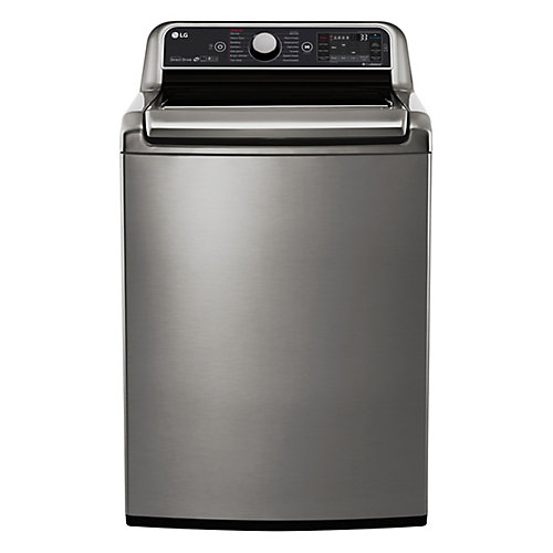 27-inch 6.0 cu. ft. Top-Load Washer with Steam Function and TurboWash 2.0 in Stainless Steel - ENERGY STAR®