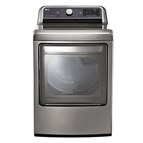 27-inch 7.3 cu. ft. Front-Load Electric Dryer with TurboSteam and Easy Load Door in Graphite - ENERGY STAR®