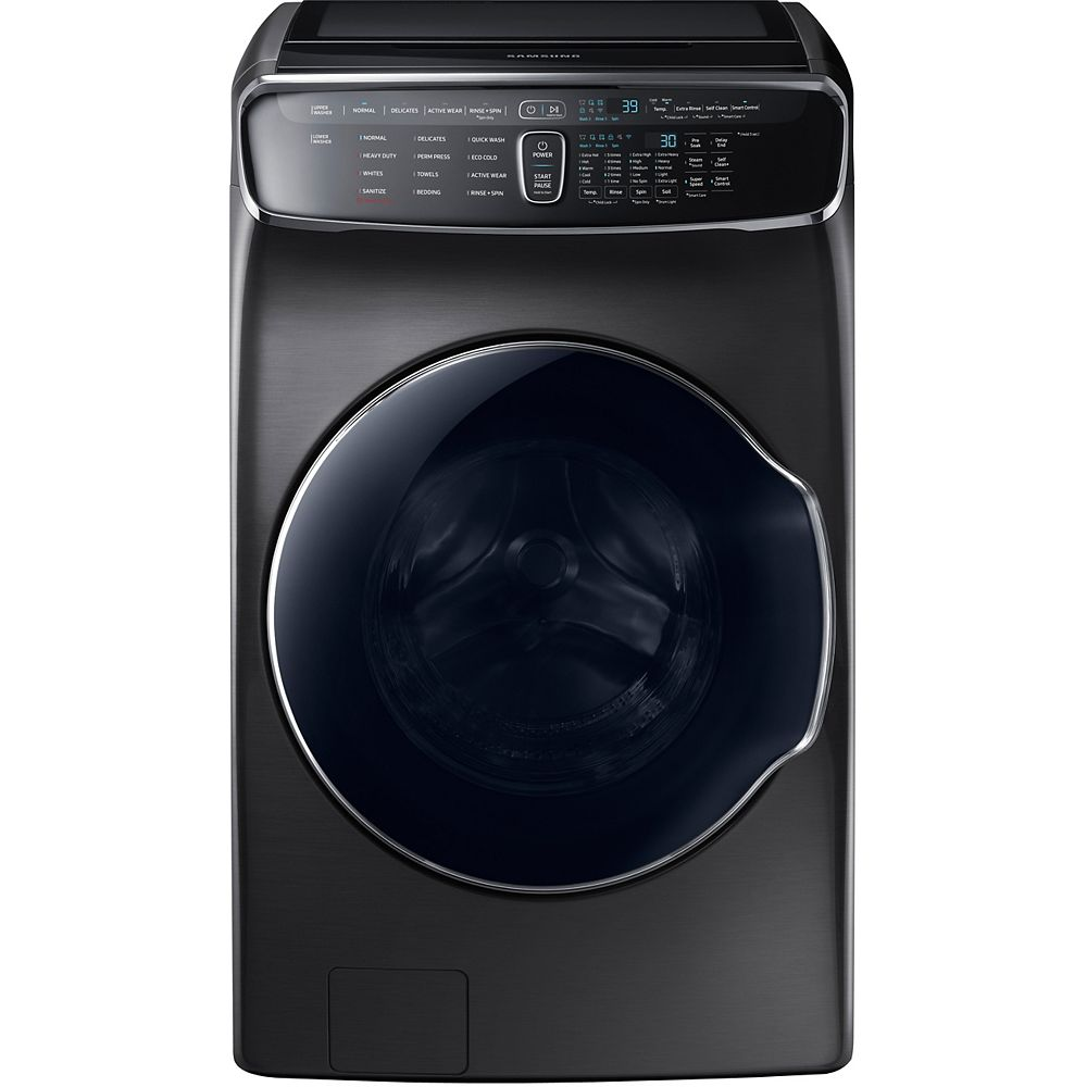 Samsung 5.8 cu. ft. Front Load Washer with Small Load Compartment in Black Stainless Steel - ENERGY STAR®