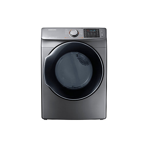 7.5 cu.ft. Front Load Gas Dryer with Steam in Platinum - ENERGY STAR®